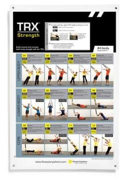 TRX Poster - Strength  Øvelsesplakat