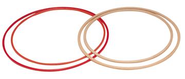 Plast tønnebånd, Ø70 cm  I rødt plast med FIG profil.