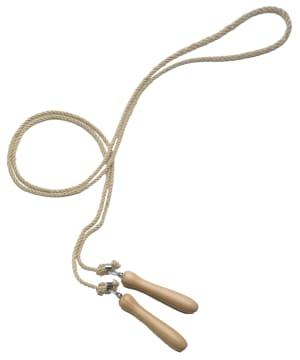Hoppetau med håndtak  Fremstilt i hamp. L265 cm.