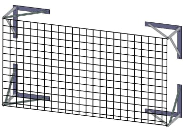 Beskyttelsesnett scoringstavle  B250 x H200cm. Inkl. beslag.