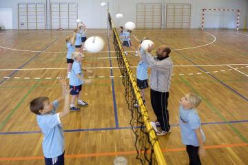 Flexbånd kidsvolley, max 40m  Justerbar lengde med spenner.