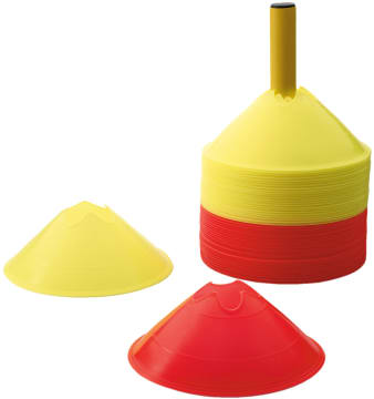 Markeringsbrikker komplett  24 røde og 24 gule