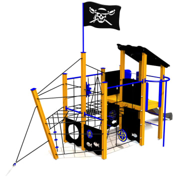 Piratskipet Den Sorte Drage vedlikeholdsfritt