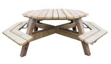 Oktagon bord 2+6, voksen