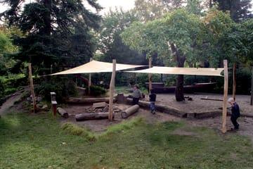 Solseil 3 x 4 meter inkl.beslag HDPE