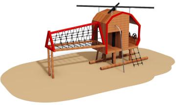 Helikopter i lerk, behandlet