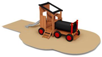 Traktor med sklie, behandlet