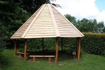 Benker til 8 meter bålhus, 6 stk (180 cm pr benk )