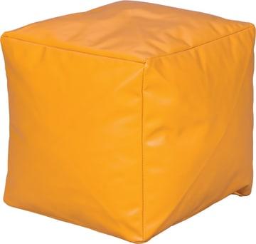 Liten Puff, mørk gul 40x40x40