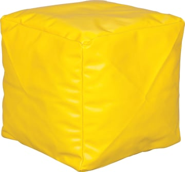 Liten Puff, lys gul 40x40x40