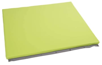Beskyttelsesmadrass for vegg, lys grønn