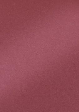 Perlemorkartong 250gr. 50x70 cm, 10 ark. Mørk rød.