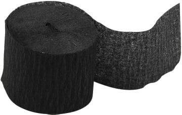Kreppapir ruller, B:5cm, L:20 m, 20 rl, sort