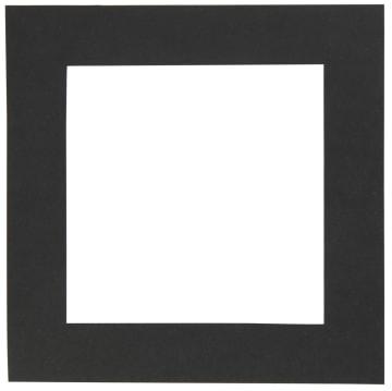 Passepartoutramme, 12,5x12,5cm, hull:8,5x8,5cm, 25stk, sort