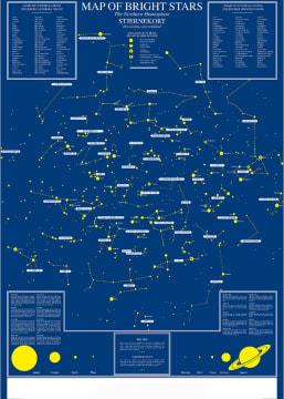 Stjernehimmel plansje 70x100 cm