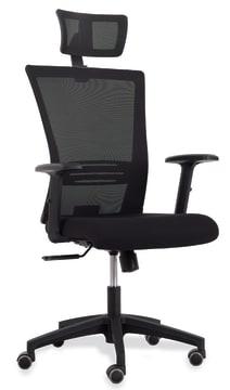 Sanus kontorstol med armlene, sort sete