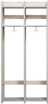 Milas Lux Garderobe 25cm u/benk 2plasser