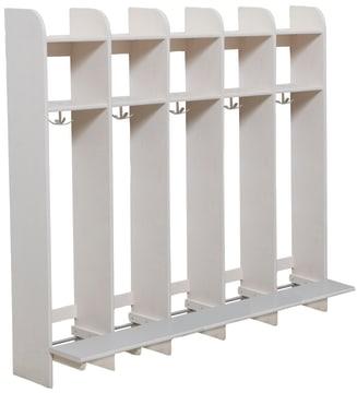 Milas Lux Garderobe, med benk, 5 plasser (30cm)
