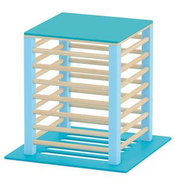 Stor plattform til sansemotorisk benk, blå