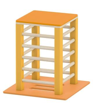 Liten plattform til sansemotorisk benk, gul