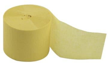 Kreppapir ruller, B:5cm, L:20 m, 20 rl, gul
