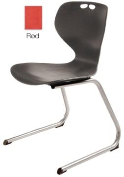 Rio Z stol, rød. Sittehøyde 45 cm