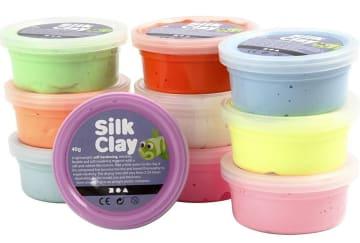 Silk Clay - 10x40 g, ass. neonfarger