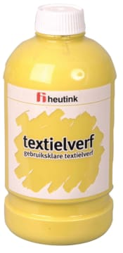 Tekstilmaling, 500ml. gul