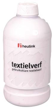 Tekstilmaling, 500ml. hvit