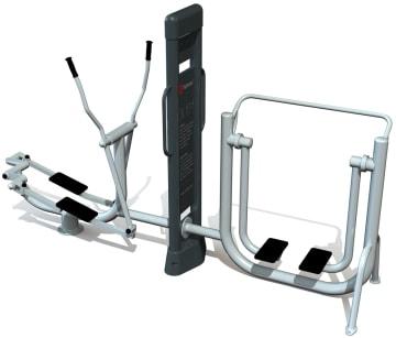 Utendørs fitness apparat 2D sett A