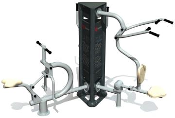 Utendørs fitness apparat 3D sett B
