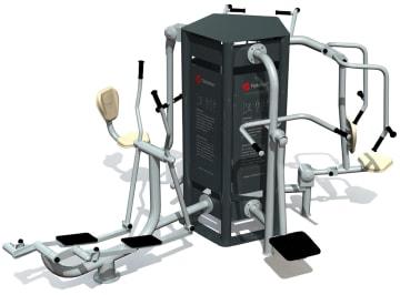 Utendørs fitness apparat 5D sett B