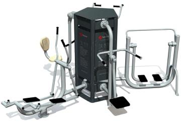 Utendørs fitness apparat 5D sett A