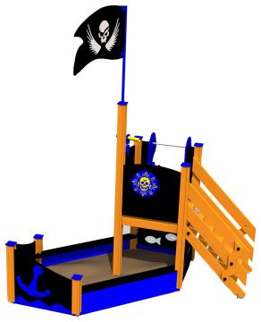 Piratskipet Kaptein Alex, standard