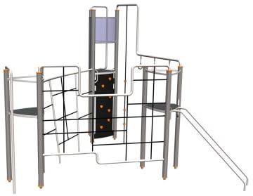 Octo klatrestativ m/3 plattformer