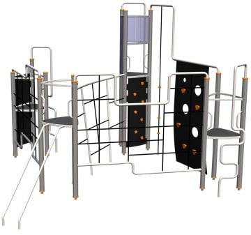 Octo klatrestativ m/4 plattformer og nett i midten