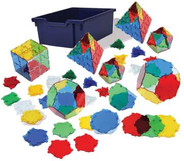 Crystall Polydron, startsett i kasse m/284 deler