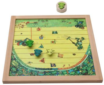 Magnetspill, dobbelt. Froskesalto og froskehopp