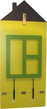 Vegghengt bord husfasong, 120 cm, bordhøyde: 57 cm