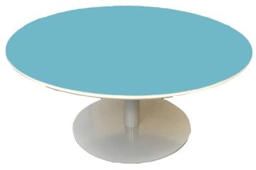 Rundt bord med søylefot og laminat, Ø90cm.