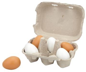 Lekemat i tre, Egg, 6 stk