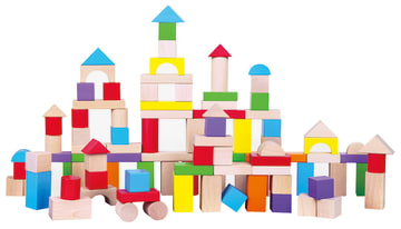 Byggeklosser i tre, 100 deler