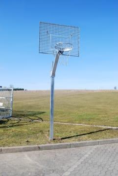 Basketballstativ galv. plate  og galv. kurv og nett
