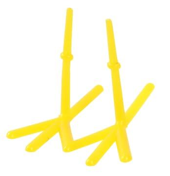 Kyllingføtter, L: 37 mm, H: 28 mm, gul, 50stk.