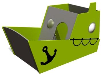 Taubåt m/styrehus og sandkasse, vedlikeholdsfri