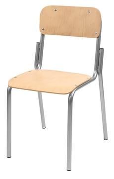 Elevstol i tre/stål, sittehøyde: 42 cm
