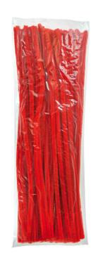Piperensere Ø6mm, 30 cm. Rød. 100 stk.