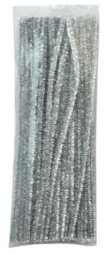 Piperensere Ø6mm, 30 cm. Sølv. 100 stk.