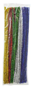 Piperensere Ø6mm, 30 cm. Glittermix. 90 stk.