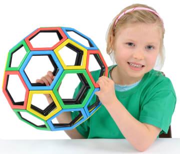 Magnetisk Polydron pentagon og hexagonsett, 32 deler